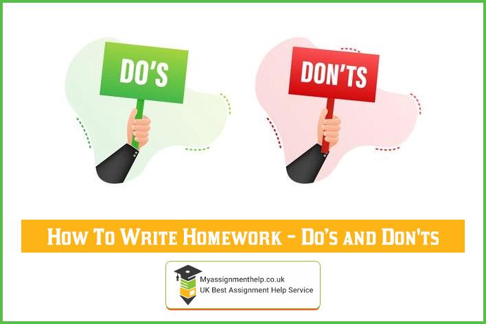 How To Write Homework